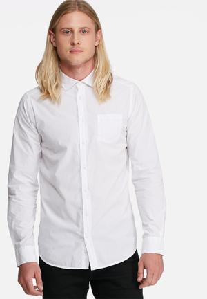 Regular fit 1 pocket poplin