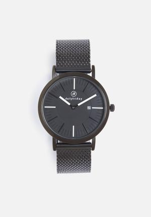 Dailyfriday Pippa Mesh Watch Black