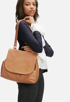 FSP Collection Abi Leather Handbag Tan