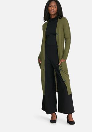 Dailyfriday Boyfriend Cardigan Knitwear Olive