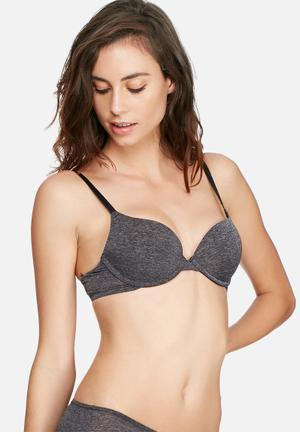 Dorina Michelle Push-up Bra Grey & Black