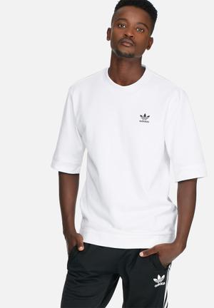 Adidas Originals St Jacquard Tee T-Shirts White