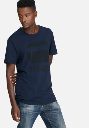 G-Star RAW Tomber Tee T-Shirts & Vests Navy