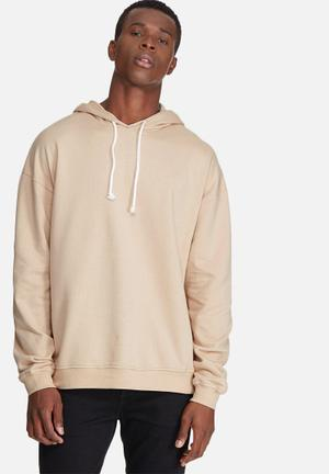 Oversized drop shoulder pullover hoodie sweat