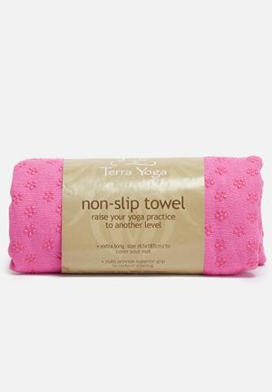 Non-slip yoga towel