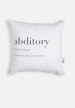 Abditory printed cushion