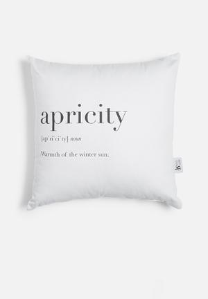 Apricity printed cushion