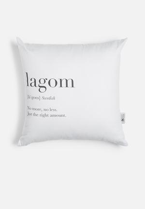 Lagom printed cushion
