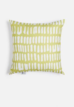 Limelight printed cushion