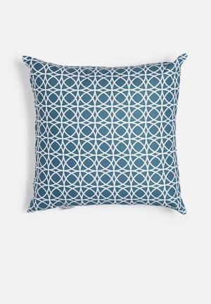 Spiro printed cushion