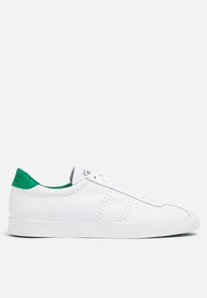 SUPERGA Club S Retro Tennis Sneakers White / Green