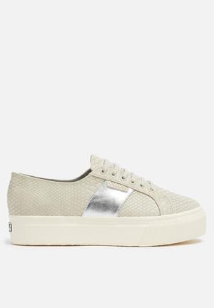 SUPERGA 2790 Snake Wedge Sneakers Beige Khaki