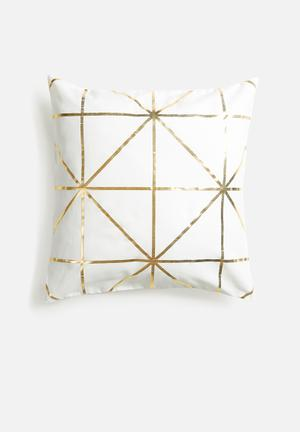 Diamond foil cushion cover