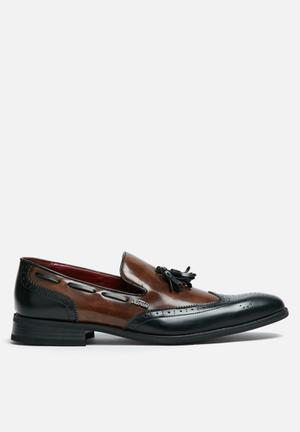 Anton Fabi Adan Slip On Slip-ons And Loafers Black & Brown