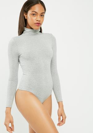 Long sleeve turtle neck bodysuit
