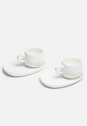 Speckle mug platter