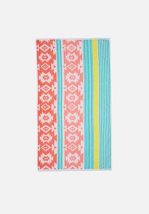 Pastel aztec beach towel