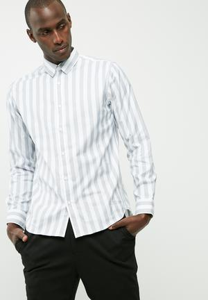 Selected Homme Tunes Regular Shirt White & Grey