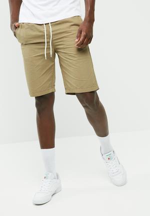 PRODUKT Elasticated Basic Short Tan