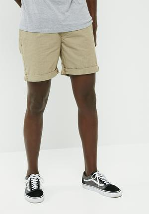 Elasticated chino shorts