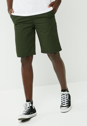 PRODUKT Elasticated Basic Shorts Dark Green
