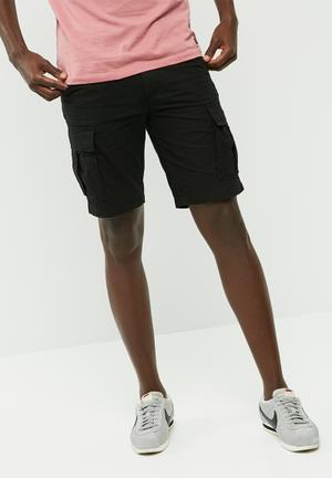 PRODUKT Canvas Cargo Shorts Black