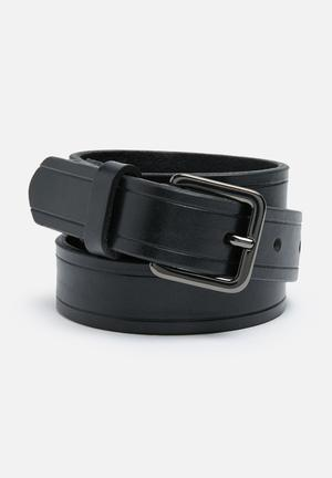 Selected Homme Poul Leather Belt Black