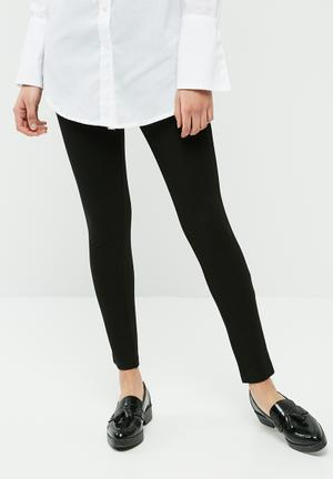 Dailyfriday Buckle Detail Treggings Trousers Black