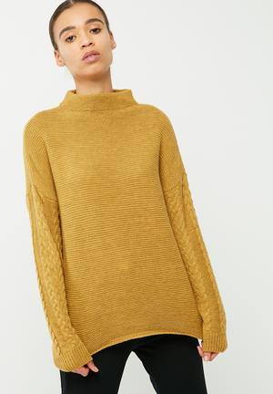 ONLY Marcella Sweater Knitwear Mustard