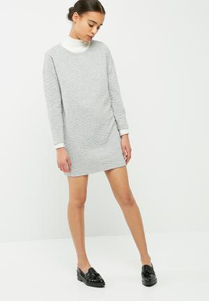 Jacqueline De Yong Fiona Dress Formal Grey Melange