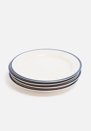 Varsity dinner plate - set of 4