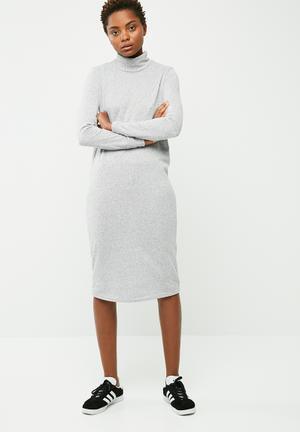 Elcos highneck midi dress