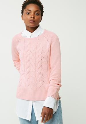 ONLY Bubbles Knit Knitwear Pink