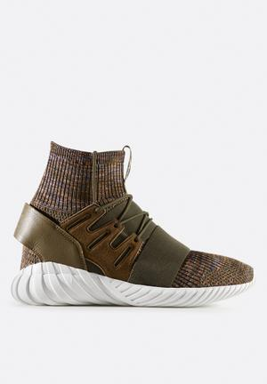 Adidas Originals Tubular Doom Sock Primeknit Sneakers Trace Olive / Mystery Brown