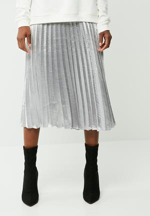 Vero Moda Silver Pleated Skirt Silver