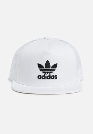 Adidas Originals Trefoil Trucker Headwear White