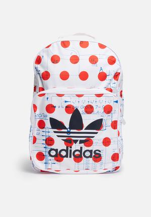 Adidas Originals Dots Classic Backpack Bags & Purses White & Red