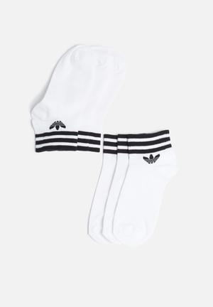 Adidas Originals Ankle Sock 3 Pack White