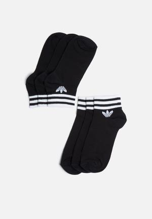Adidas Originals Ankle Sock 3 Pack Black