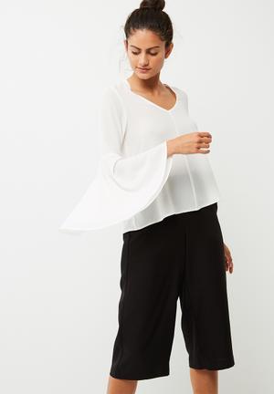 Dailyfriday Bell Sleeve Blouse White