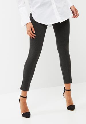 Dailyfriday Formal High Waisted Treggings Trousers Grey Melange