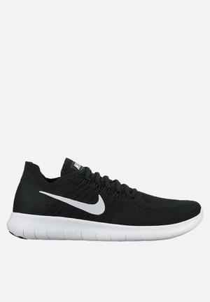 Nike Free RN Flyknit Sneakers Black/ White-Black