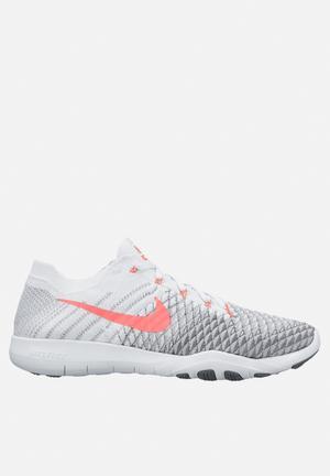 Nike W Free TR Flyknit 2 Sneakers White Hyper Punch Grey