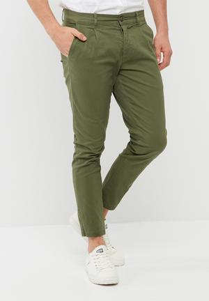 Hale cropped twill trouser