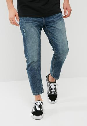 Beam cropped jog jeans