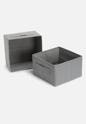 Sixth Floor Collapsible Storage Box Set Of 2