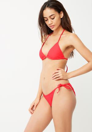 Dailyfriday Tie Side Bikini Brief Swimwear Red