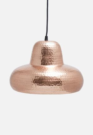 Sixth Floor Parth Copper Pendant Lighting Iron With Copper Finish