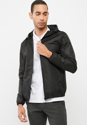Basicthread Windbreaker Jackets Black