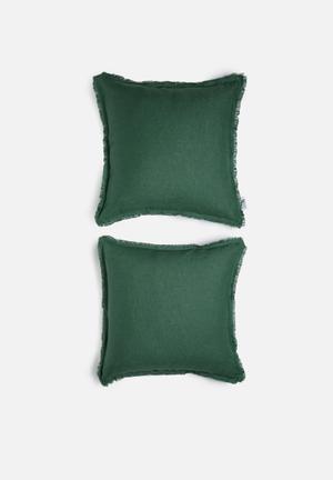 Linen cushion cover set